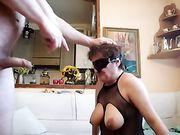 En fremragende oral sex med en bedstemor